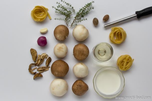 רוטב שמנת ופטריות