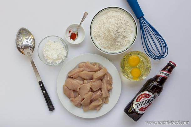 חזה עוף בבצק בירה